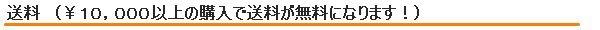 送料 (1万円以上の購入で送料無料!)