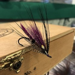 画像1: 【ATLANTICFLIES】 LeBlanc's Purple Spey Black