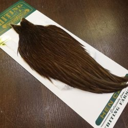 画像2: 【WHITING】Hebert Hen Cape - DARK BROWN DUN No.2